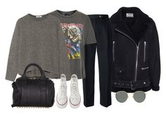 """""""Untitled #4072"""" by ericacavaco12 ❤ liked on Polyvore featuring Acne Studios, CÉLINE, And Finally, Helmut Lang, Converse, Alexander Wang and Ray-Ban"""