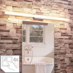Plafonnier LED longitudinal Levke, IP44   Luminaire.fr Led, Bathtub, Alcove, Bathroom