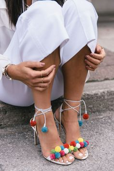 Aquazurra Pom Pom Heels | Not Your Standard