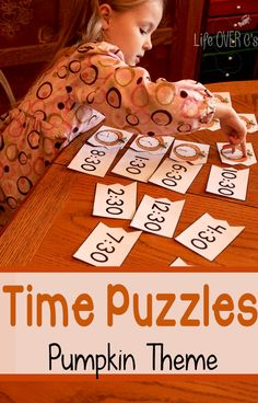 Pumpkin Theme Time Puzzles (from Life Over C's)