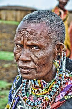 Maasai woman in the Masai Mara, Kenya