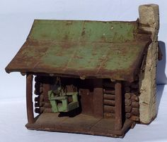 Had one of these and sold it.  also the larger house from Johnny Appleseed. Miniature log cabin