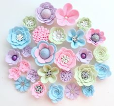 Hand made pink/blue/green/lilac felt flowers, felt roses. Felt flower crown, flower headband, flower Evil eye beads, which will be among … Faux Flowers, Diy Flowers, Fabric Flowers, Paper Flowers, Ribbon Flower, Lotus Flower, Baby Flower Crown, Baby Flower Headbands, Felt Diy