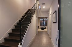 modern stairs / glass with black metal