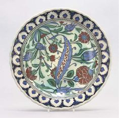 A CANTAGALLI MAIOLICA ISNIK-STYLE DISH | LATE 19TH CENTURY, GREEN COCKEREL MARK | Christie's Mark Price, 19th Century, Decorative Plates, Dish, Iron, Style, Swag, Outfits, Plate