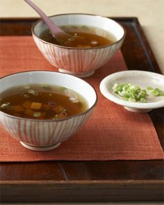 """Serve this simple broth in small bowls as an appetizer, similar to miso soup.This recipe is from the new """"Martha Stewart's Dinner at Home"""" cookbook.Photo credit: Kate Sears"""