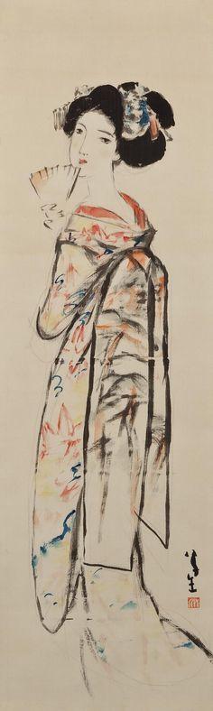 Takehisa Yumeji, 1884-1934 竹久夢二 - Maiko 舞妓