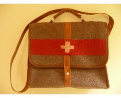 Vintage Swiss Army Laptop Bag (from Swiss Army blankets!)