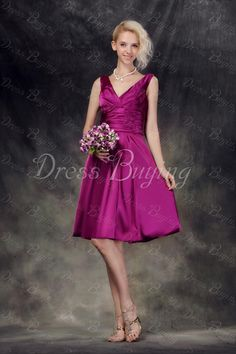 Elegant Ruched A-Line Bridesmaid Dress Wedding Apparel