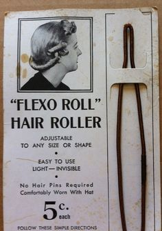 Vintage Late 30s early 40s Hair Roller for Pin-up by RumbleSeatCat