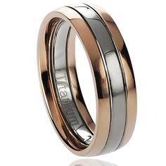 @Overstock.com - Vance Co. Men's Titanium Two-tone Rose Goldplated Band (6 mm) - Men's Titanium  ring Two-tone rose gold-plated  bandClick here for ring sizing guide  http://www.overstock.com/Jewelry-Watches/Vance-Co.-Mens-Titanium-Two-tone-Rose-Goldplated-Band-6-mm/7495220/product.html?CID=214117 $19.99