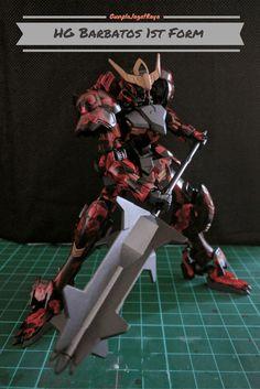 Gunpla Custom Build Red Marble Barbatos 1st