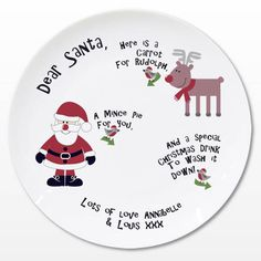 Dear Santa Mince Pie Plate is sure to serve Santa in style. This personalised Christmas plate is one of many novelty Christmas Gifts from The Kitchen Gift Co. Novelty Christmas Gifts, Personalised Christmas Baubles, Christmas Gifts For Kids, Xmas Gifts, Christmas Ideas, Christmas Eve, Father Christmas, Christmas Presents, Christmas Crafts
