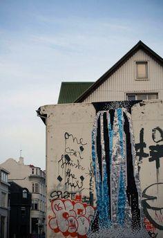 sequin graffiti in Reykjavic, Iceland