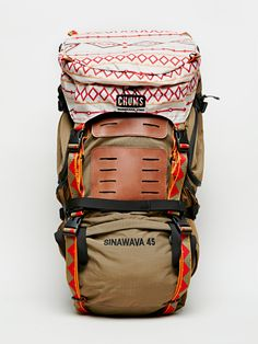 Chums Brown Sinawava 45 Backpack - Without Walls Cute Travel Backpacks,  Backpacks For Hiking, 0556c32227