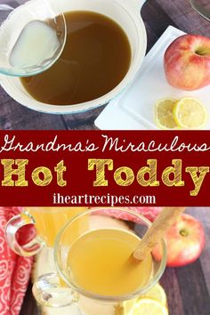 Feeling under the weather? Sleep it off with Grandma's miraculous hot toddy. You'll be good in no time! Who's had a good old fashioned hot toddy before, or at least have heard of it? I swear it seems like no one knows what they are, and it's crazy to me- Because back in the day EVERYONE'S Grandma had a recipe for a hot toddy! So what is it? What is a hot toddy you ask? It's pretty much a spiked hot beverage that people drink when they have a cold, sore throat, or cough...