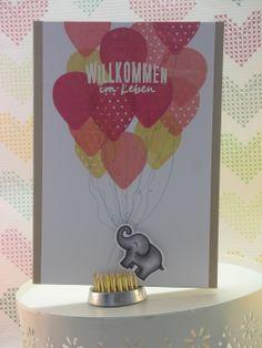 zur Geburt / Babykarte  die Luftballons sind inspiriert von Nichol Magouirk  #lawnfawn #stampinup #scrapbookwerkstatt #deltamarker #embossing