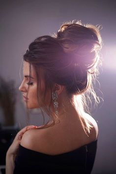24 Gorgeous Wedding Bun Hairstyles ❤ See more: http://www.weddingforward.com/wedding-bun-hairstyles/ #weddings #hairstyles #updos