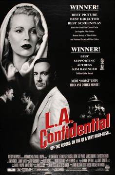 [link] L.A. Confidential is a 1997 American neo-noir crime film directed, produced and co-written by Curtis Hanson. https://en.wikipedia.org/wiki/L.A._Confidential_(film)