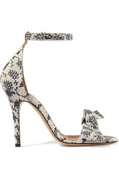 36afafebbc8932 Isabel Marant Python-effect leather sandals Python, Isabel Marant, Sandales  En Cuir