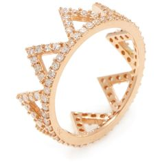 Amrapali Pave Diamond Crown Ring in Rose Gold ($1,500) ❤ liked on Polyvore featuring jewelry, rings, white, white crown, eternity band ring, crown ring, 18k ring and pink gold rings