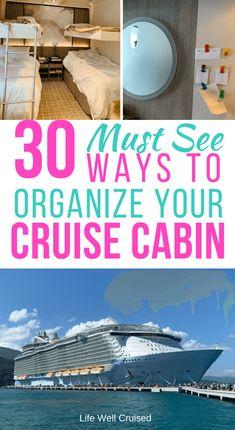 30 Cruise Cabin Hacks Every Cruiser Needs to Know – Life Well Cruised - Wedding Ideen Packing List For Cruise, Cruise Tips, Cruise Travel, Cruise Vacation, Disney Cruise, Shopping Travel, Beach Travel, Honeymoon Cruise, Europe Packing