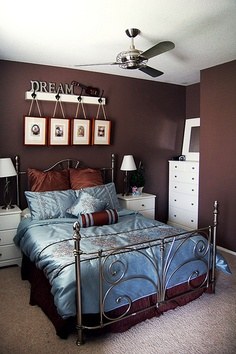 Beautiful Blue Brown Bedroom Lt 3 Bedrooms Decor