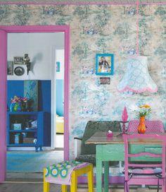 Pink doorframe