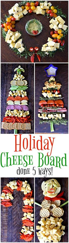 Holiday Cheese Boards done 5 ways! Perfect for Christmas & Thanksgiving entertaining! #MerryEats | MrsHappyHomemaker.com