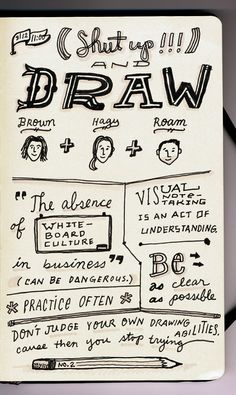 Doodle, sketch, draw, paint -- set yr handmind free!!! --- sxsw2012sketchnotes-glamson-draw1