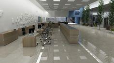 Modelado en 3D max de edificio de oficinas según planos CAD