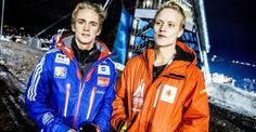 ANDERS FANNEMEL WITH HIS TWIN BROTHER EINAR.