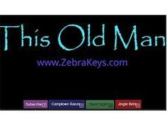 Learn How to Play Piano – This Old Man Zebra Keys Blog Easy Piano Songs, Kids Songs, Row Row Your Boat, Old Men, Nursery Rhymes, Fun Learning, Karaoke, Keys, Lyrics