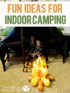 Fun ideas for indoor camping by @How Does She!