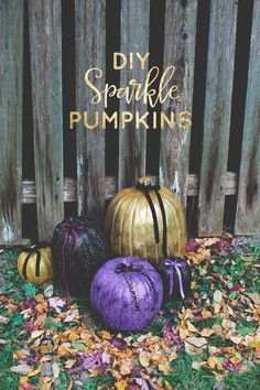 Easy DIY Sparkle Pumpkins (and a Special Announcement!) | The Little Umbrella