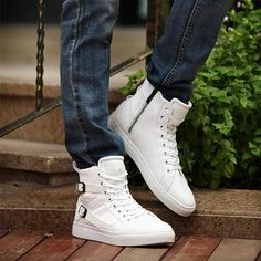 Buy 'Easy Steps – Buckled High-Top Sneakers' with Free International Shipping at YesStyle.com. Browse and shop for thousands of Asian fashion items from China and more!