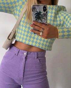 Colourful outfit Look Fashion, Winter Fashion, Fashion Outfits, Womens Fashion, 90s Fashion, Colourful Outfits, Colorful Fashion, Pastel Fashion, Cute Casual Outfits