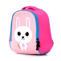 Toddler Kids Cute Animal Printing Backpack Children 3D Neoprene School Bags  Kindergarten Baby Girls Boys Cartoon 469c9c82099ca