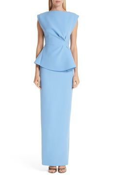 Looking for Rachel Gilbert Adelaide Crepe Peplum Gown ? Check out our picks for the Rachel Gilbert Adelaide Crepe Peplum Gown from the popular stores - all in one. Peplum Gown, Silk Midi Dress, Crepe Dress, Rachel Gilbert, Best Wedding Guest Dresses, Gowns Online, Embellished Dress, Women's Fashion Dresses, Dresses With Sleeves