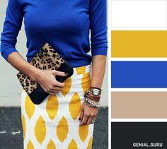 10 Clásicas combinaciones de colores para crear un look perfecto con tu ropa