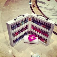 Image result for wooden nail varnish carry case
