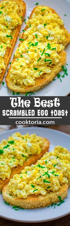 This Scrambled Egg Toast is so easy to make, and so incredibly tasty, that it is going to make your morning better. Guaranteed.