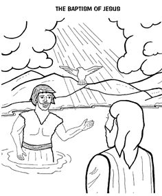 Fresh Baptism Of Jesus Coloring Page 58 Telling the story of
