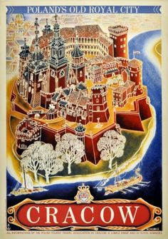 Cracow Krakow Poland Old Royal City Chomicz, 1930s - original vintage poster by Witold Chomicz listed on AntikBar.co.uk