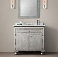 Amy sourced: RH Light Zinc Single Vanity Sink