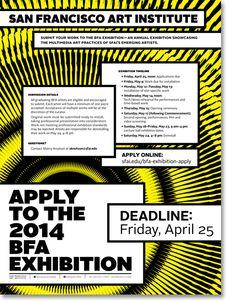 SFAI 2014 BFA Exhibition // Call for Entry on Behance