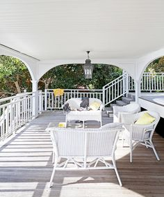 Wicker furniture has become synonymous with Hamptons style.
