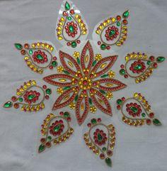 kundan rangoli set made by me