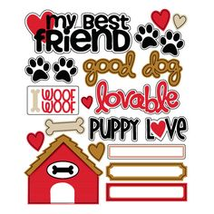 Queen and Company - Pets Collection - Chipboard Pieces at Scrapbook.com $1.99