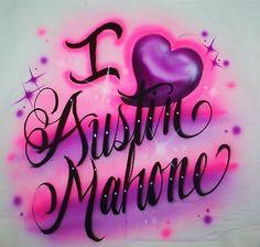 Cute I Love Austin Mahone Girls Women's T Shirt s M L XL Great Gift Any Size | eBay